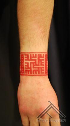 Latvian zime tattoo