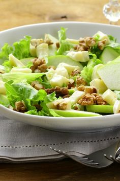 Apple Walnut Salad with Cranberry Vinaigrette Recipe