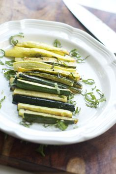 Roasted Zucchini | recipe from Spinach Tiger