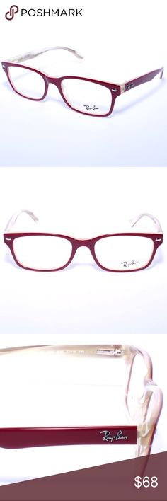 ccddd5f590 Ray Ban RB 5286 5152 Burgundy Beige Frames Ray Ban RB 5286 5152 Burgundy Beige  Frames Eyeglasses RX Brand New Authentic Comes with Generic Case