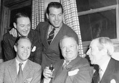 Leslie Howard with Bill Gargan, Fred Mc Murray, W C Fields and George Arliss