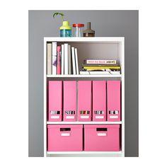 TJENA Caja con tapa - rosa - IKEA