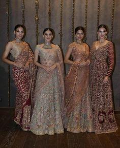 I ❤️ those lehengas 😍😍😍😍 Asian Wedding Dress, Indian Wedding Outfits, Pakistani Outfits, Bridal Outfits, Indian Outfits, Indian Lehenga, Lehenga Choli, Anarkali, Sabyasachi