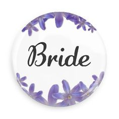 Wedding love marriage bridal party groom buttons purple