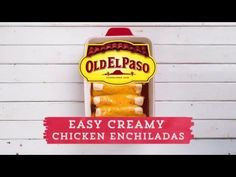 Easy Creamy Chicken Enchiladas Recipe from Old El Paso