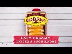 Easy Creamy Chicken Enchiladas Recipe from Old El Paso