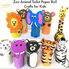 10 Adorable Zoo Animal Toilet Paper Roll Crafts for Kids! - 10 Adorable Zoo Animal Toilet Paper Roll Crafts for Kids! - 10 Adorable Zoo Animal Toilet Paper Roll Crafts for Kids! - 10 Adorable Zoo Animal Toilet Paper Roll Crafts for Kids! Toilet Roll Craft, Toilet Paper Roll Crafts, Paper Plate Crafts, Paper Crafts For Kids, Projects For Kids, Kids Toilet, Tissue Roll Crafts, Paper Plates, Craft Projects
