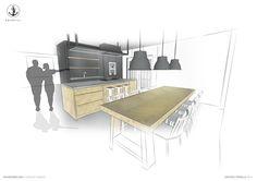 #KITCHEN #CONCEPT #DESIGN - @eginstillstudio | Interior kitchen design proposal for a private client in Amsterdam, The Netherland. #Design @eginstillstudio  by #stefanospinella #stefano #spinella #spino #design #spinodesign #amsterdam #eginstill #concept