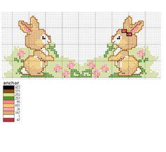 Schemi a punto croce: teneri coniglietti