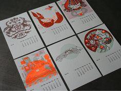 Studio on Fire - 2010 Letterpress Calendar