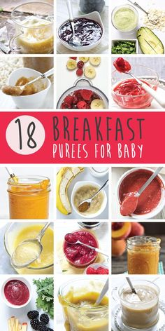 18 Breakfast Purees for Baby | Baby Food-e | organic baby food recipes to inspire adventurous eating | Bloglovin'