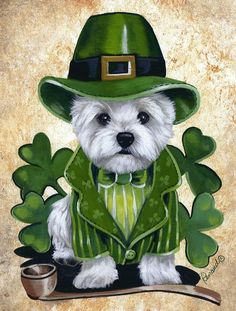 Irish Westie (not really).  .  . Scottish, but maybe for St. Patrick's Day!?!