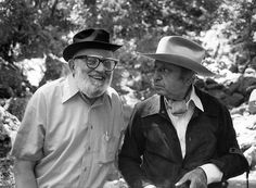 Ansel Adams and Yosuf Karsh Swapping Hats, Yosemite, nd -by Alan Ross [+] [+] from Alan Ross