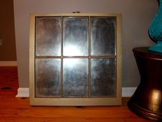 Finished DIY antique window mirror   Satisfaction Through Christ