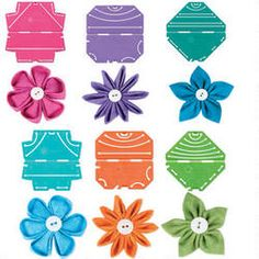 Make fabric flowers with the help of these easy-to-use templates