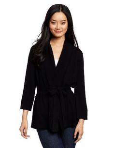 Michael Stars Women's 3/4 Sleeve Belted Wrap Cardigan Michael Stars. $114.00. Made in China. Open cardigan. 65%wool/30% Modal/5% Cashmere. Dry Clean Only. Removable belt. Cashmere blend
