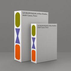 Logo Design, Graphic Design Typography, Print Design, Packaging Design Inspiration, Graphic Design Inspiration, Branding Ideas, Antibes, Grand Bazar, Legrand