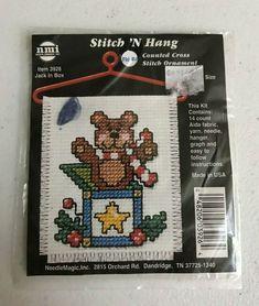 "Janlynn Counted Cross Stitch Kit 8/""X10/""-Wildflower Jar 14 Count"