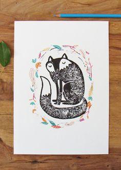 Dit vind ik gewoon zo'n leuke print uit je werk. De konijnenversie vind ik nog leuker!