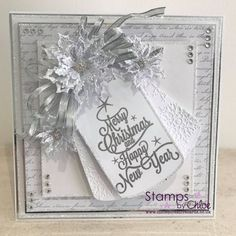 Stamps by Chloe - Merry Christmas Tree - - Stamps By Chloe Merry Christmas Tree - Chloes Creative Cards Christmas Card Crafts, Christmas Cards To Make, Xmas Cards, Handmade Christmas, Holiday Cards, Merry Christmas, Christmas Poinsettia, Winter Christmas, Wedding Cards Handmade