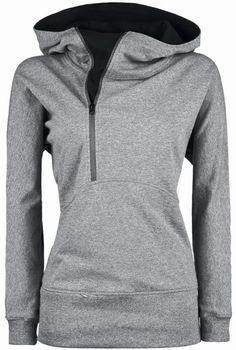 Super cute grey zip-up hoodie for fall