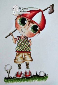 Bestie golfer boy close-up by Marion... (pinned from Facebook)