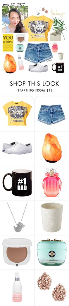 """embreezyy in the house"" by mledoll ❤ liked on Polyvore featuring Topshop, Levi's, Keds, Victoria's Secret, Effy Jewelry, Diptyque, Marc Jacobs, Tatcha, Kopari and Kendra Scott"
