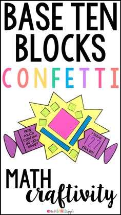 This math craft is perfect for using with students in kindergarten, first grade, and second grade who are working with base ten. It aligns with Common Core StandardCCSS.MATH.CONTENT.1.NBT.B.2 and will fit into your math curriculum activities for teaching students represent numbers using base ten blocks. All the templates pictured are included, making this a fun and easy activity to complete with your kiddos. It's fun, engaging, and simple to do!