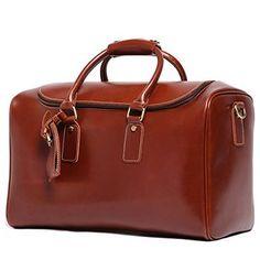 LeatharioMens Leather Weekend Travel Duffel Bags