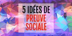Les témoignages ne sont pas la seule façon de démontrer la preuve sociale ! Voici en effet 5 nouvelles idées pour booster vos ventes avec cette technique : http://www.webmarketing-com.com/2016/05/02/47366-5-nouvelles-idees-booster-vos-ventes-preuve-sociale-video