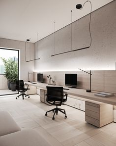 Small Office Design, Office Interior Design, Home Office Decor, Office Interiors, Home Decor, Modern Home Offices, Small Home Offices, H Design, House Design