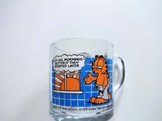 Vintage Garfield McDonalds Glass Mug 1978 by WylieOwlVintage, $6.00