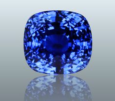 Cushion shaped blue sapphire