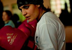 "Sadaf Rahimi, the female boxer selected to represent Afghanistan, who just got told she can't compete at the olympics by the International Boxing Association for not being good enough :c  ""I want to deliver a message to the world through my fighting that Afghan girls are not victims,"" says Rahimi."