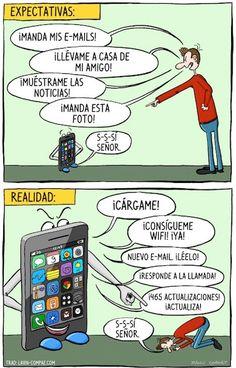 Expectativas con el móvil vs realidad…