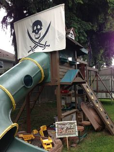 DIY pirate ship playhouse