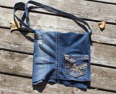 Great one of a kind gift--Denim Messenger Bag $25