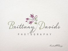I really like this, the elegance and simplicity Also the colours are perfect. But no baby!  Like Flat  Floral Logo Premade logo Photography logo by KristinARTdesign