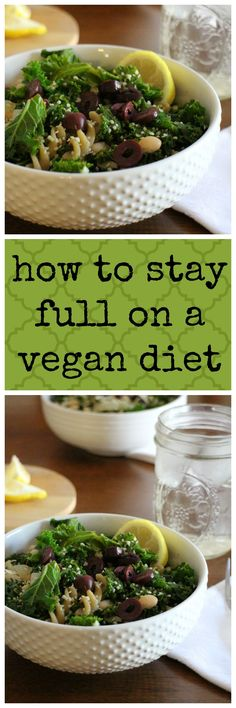 Worried about feeling hungry on a vegan diet? Here's what works for me to feel…