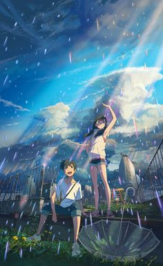 Tenki no ko, film summer 2019 anime. Anime Backgrounds Wallpapers, Anime Scenery Wallpaper, Cute Anime Wallpaper, Anime Artwork, Animes Wallpapers, Otaku Anime, Comic Anime, Manga Anime, Art Anime Fille