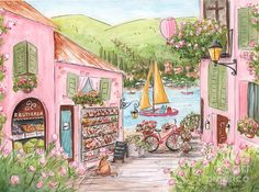 Italian Girl - Lake Como, Italy  Painting by Debbie Cerone