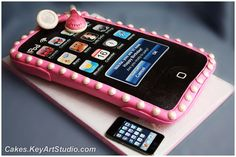 IPod Touch Player in a Pink Case Cake by Cakes.KeyArtStudio.com, via Flickr