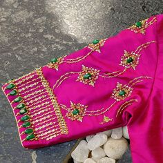 For prices and enquries kindly DM , comments won't be replied Saree Blouse Neck Designs, Stylish Blouse Design, Fancy Blouse Designs, Bridal Blouse Designs, Latest Embroidery Designs, Maggam Work Designs, Diana, Sleeve Designs, Work Blouse
