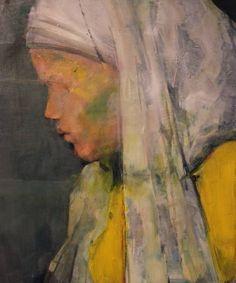 "Saatchi Art Artist Fanny Nushka Moreaux; Painting, ""Girl with Veil  ( SOLD)"" #art"