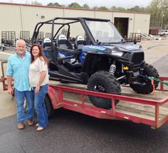 Thanks to Todd Hennis and Becky Johnson from Semmes AL for getting a 2016 Polaris RZR 4 900 at Hattiesburg Cycles