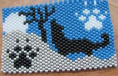 Hand Beaded Wolf G2 pen wrap with pen by beadfairy1 on Etsy