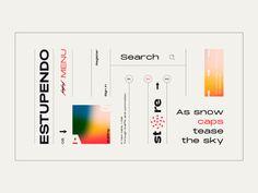 Layout / Estupendo by Nino Lekveishvili on Dribbble Web Design, Layout Design, Graphic Design Typography, Branding Design, Grafik Design, Design Reference, Graphic Design Inspiration, Business Design, Editorial Design