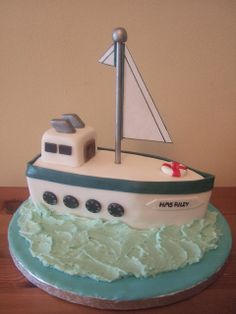 Party Ideas - Cakes - Ships & Boats on Pinterest Cruise ...