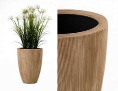 Raffiniertes Design: das exklusive Pflanzgefäß OPALA, geriffelt und geplättelt im Hochglanz » Pflanzkübel-Blog von AE Trade