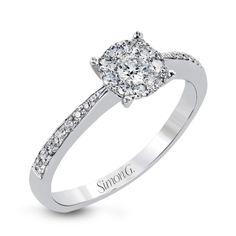 Simon G. white gold and diamond engagement ring www.perrysemporium.com #perrysbride